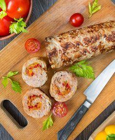 Рубленый мясной рулет со сладким перцем | Вкусный блог - рецепты под настроение