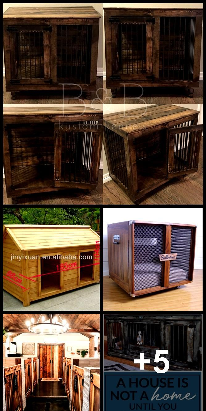Wood Double Dog Kennel Outdoor Large Dog House For Two Dog Double House Kennel Large Outdoor Wood