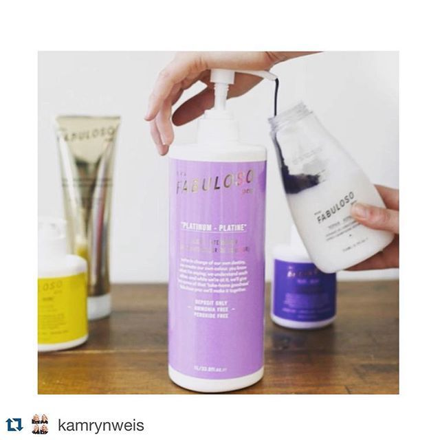 Our Fabuloso Pro is ready to mix you a custom conditioner to help maintain your current color or try something new for fun.  #Repost @kamrynweis with @repostapp. ・・・ Let's give them some of that take home goodness..... #evohair #evosaveus #fabulosopro #fabpro #takehome #goodness #hair #product #hairproduct #lovewhatyoudo
