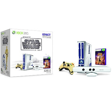 Get the Xbox 360 Limited Edition Kinect Star Wars Limited Edition Bundle, with the first ever white Kinect Sensor. $519.99
