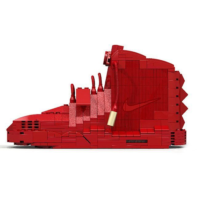 """Lego """"Red October"""" Nike Air Yeezy 2. Would you cop? #yeezy  More details on solecollector.com"""