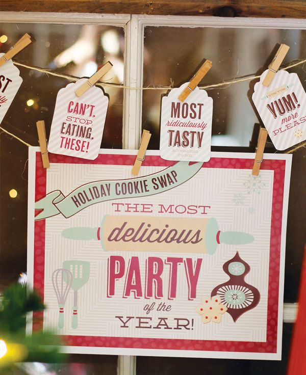 Lovely Cookie Exchange Printables From Hostess With The Mostess
