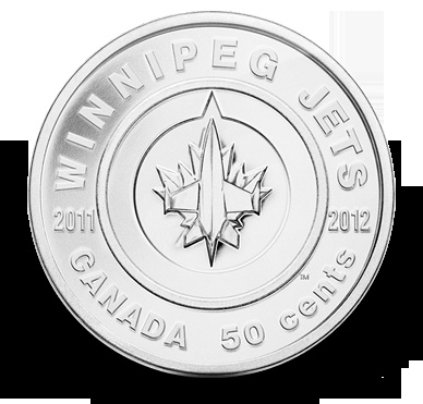 Commemorative 50 cent coin, in celebration of the return of the Winnipeg Jets! CAD$14.95