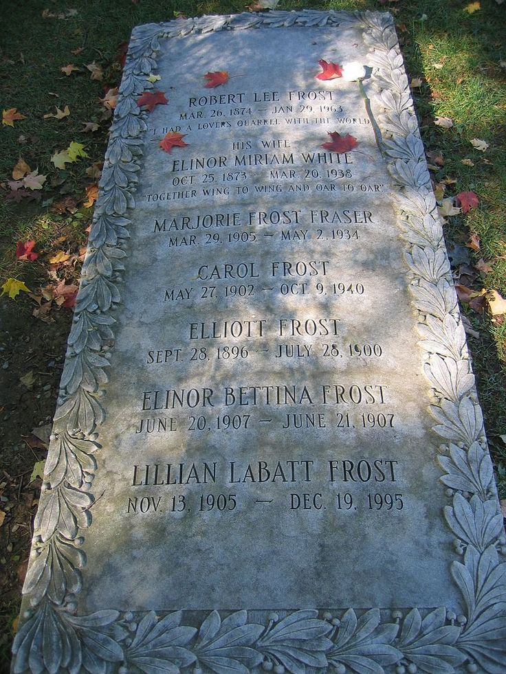 Robert Frost's Grave - Robert Frost - Wikipedia, the free encyclopedia