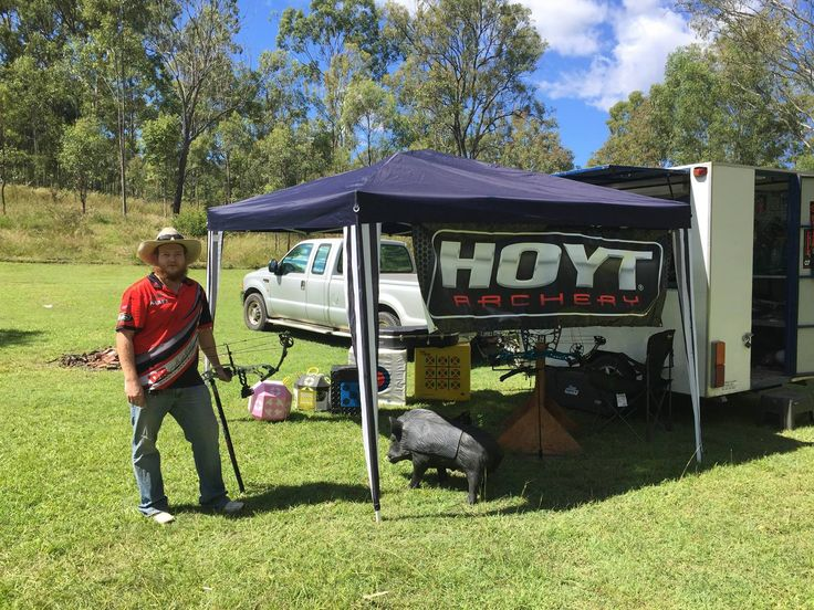 Joshua Reeks enjoying a perfect day at Ipswich Field Archers for some 3D target shooting with the Darryl Reeks Archery merchandise van!