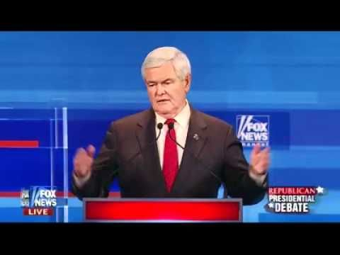 Newt at his best - Rep. Debate 12-15-11 on Judiciary