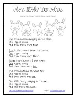 Lil Country Librarian: Five Little Bunnies Subtraction Shared Reading and Finger Puppets {Freebie}