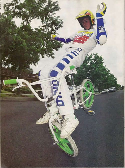 80's BMX. We all tried to do this trick and busted our asses!