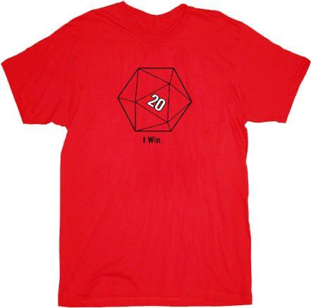 The Big Bang Theory Sheldon Cooper 20 Sided Dice D20 Adult Red T-shirt