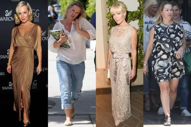 Durch dick und dünn: Der direkte Vergleich: Jennie Garth in 2009, 2010, 2012 und 2017.