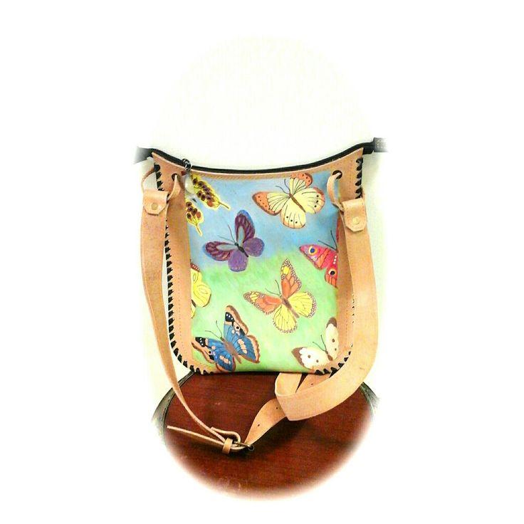 Женская сумка-планшет из натуральной кожи. Ручная работа, ручная роспись.👜 Эксклюзивно от @knitbyolgabronina.