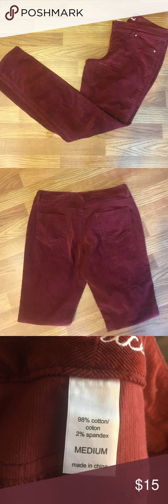Corduroy leggings Rust colored leggings in great shape only worn a few times. Very stretchy and soft fabric. Maurices Pants Leggings