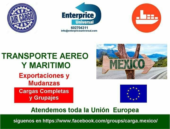 Transporte internacional de carga desde la Union Europea hacia Mexico