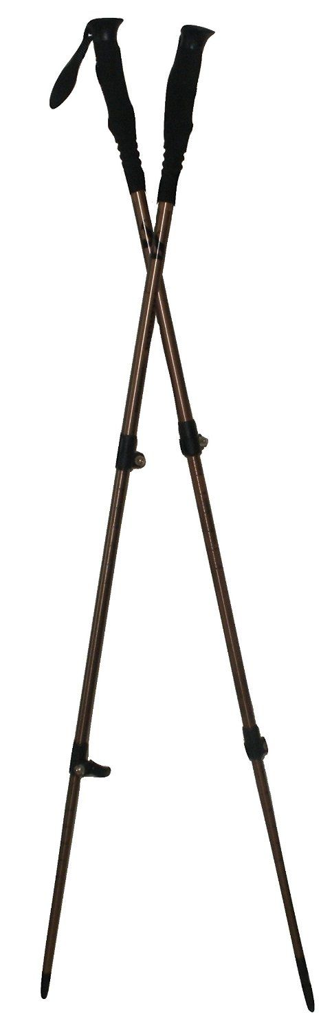 Two Trekker Gold Standard Telescoping Collapsible Walking Sticks Perfect Hiking Poles for Backpacking Trekking Trail Hikes. Gear Up with Camping Supplies for Your Next Outdoor Trek. Pack Now! 1 Pair *** See this awesome image @ http://www.amazon.com/gp/product/B01DRC7GFE/?tag=buyoutdoorgadgets.com-20&ptu=210716023701