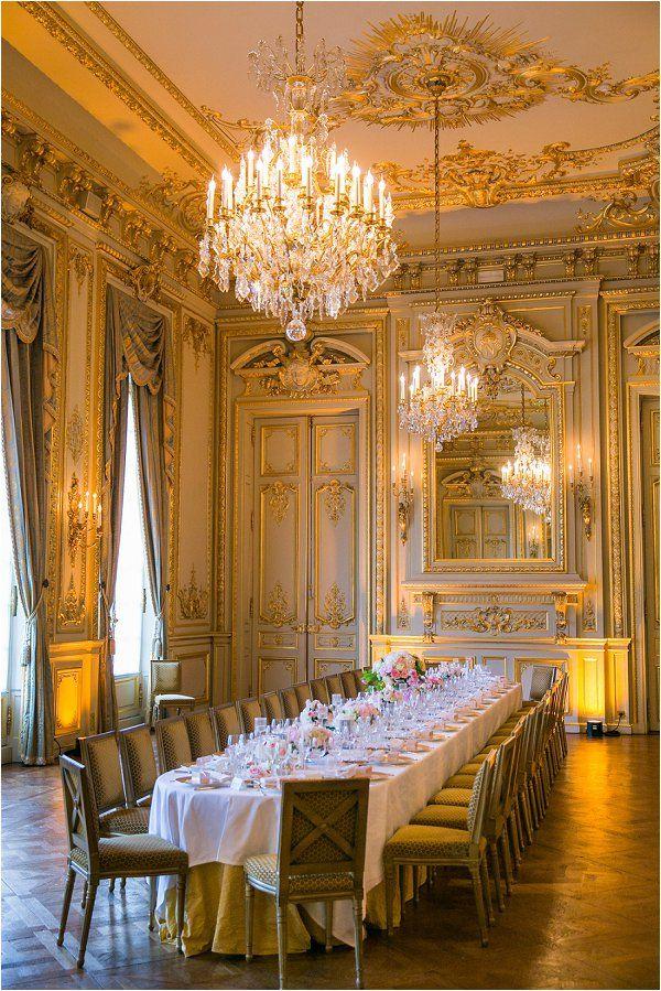 Memorial day weekend wedding in Paris Luxury dining room