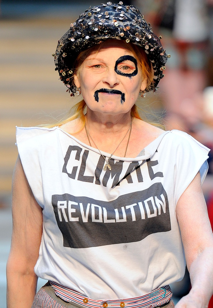 Vivienne Westwood in a Climate Revolution T-Shirt ...