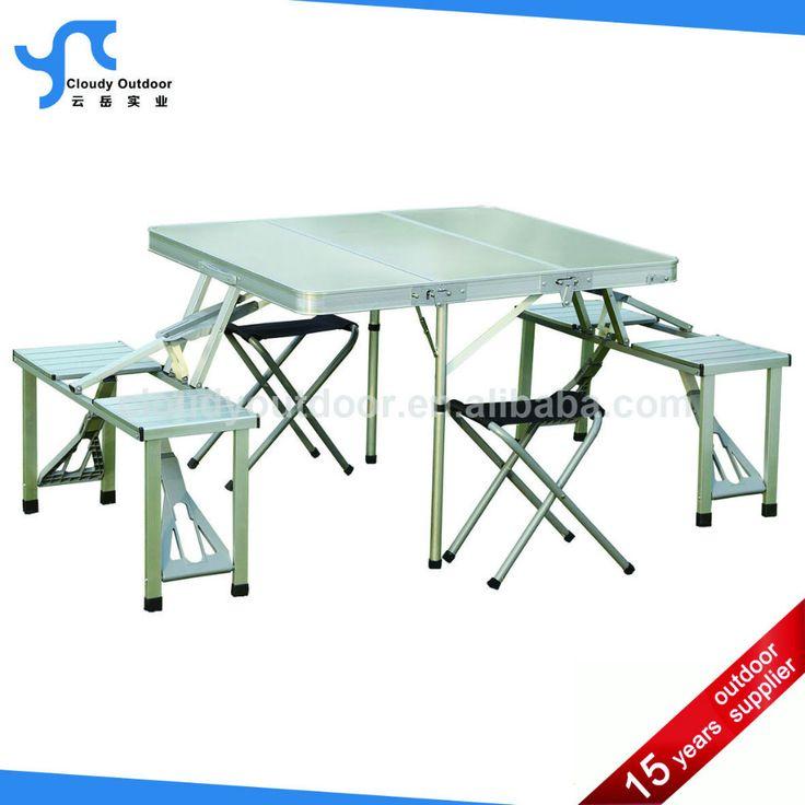 Extérieure en aluminium pas cher valise pliage table de pique - nique