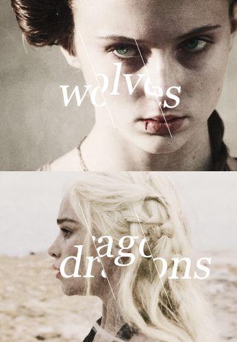 Daenerys Targaryen & Sansa Stark ~ Game of Thrones Fan Art