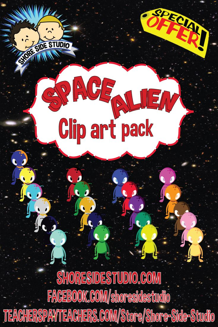 Our latest clip art pack is a Space Alien Freebie which can be downloaded from LINK