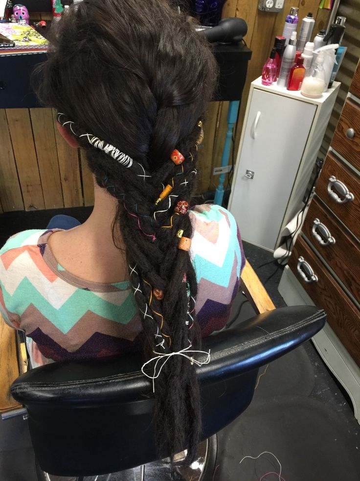 Braided half dreads- loving it!