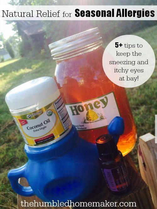 Natural Relief for Seasonal Allergies - TheHumbledHomemaker.com