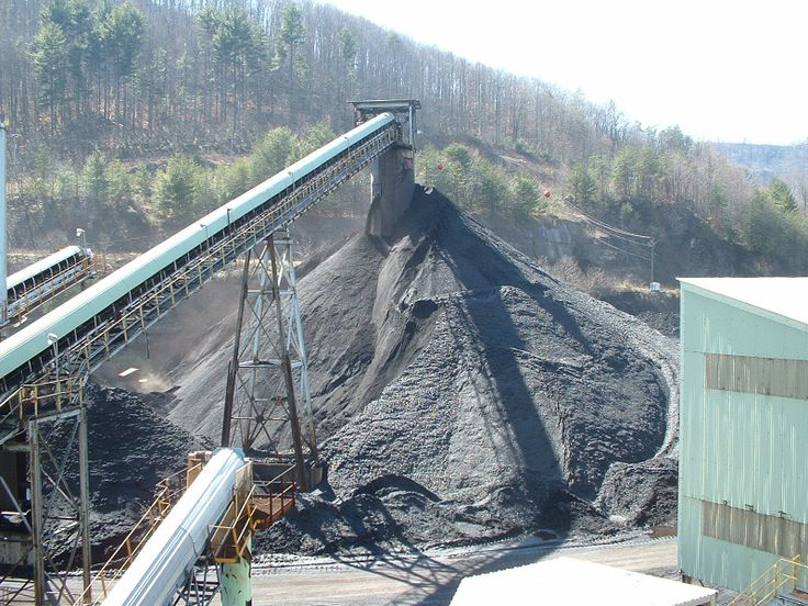Coal Staging Area of coal processing plant