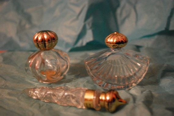 Set of 3 Avon Perfume Bottles