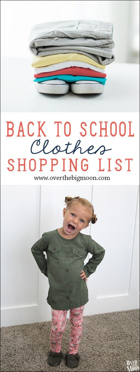 Back to School Clothes Shopping List - what to get you elementary school kids to start off the year! #ad #kohls #firstdayeveryday | www.overthebigmoon.com