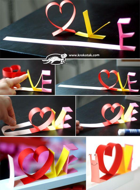 L.O.V.E охлюв от хартиени ленти