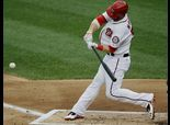 Bryce Harper homers in first at-bat back from DL