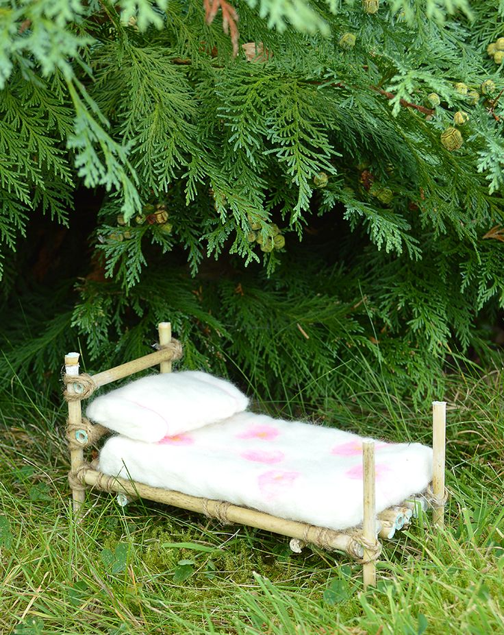 A fairy bed made with twigs and love fairies beds and for Fairytale beds