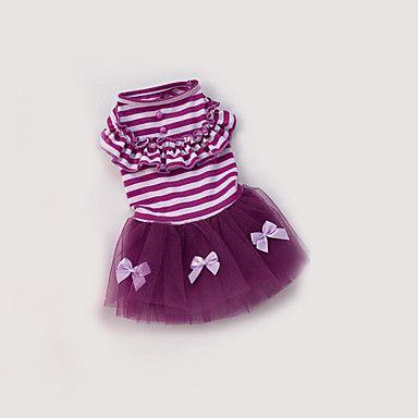 Dog+Dress+Dog+Clothes+Casual/Daily+Princess+Purple+Blushing+Pink+–+USD+$+7.99