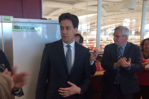 Ed Miliband meets shoppers in Asda Queensferry on Saturday on the campaign trail