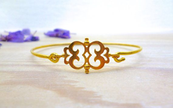 Evangelos Bracelet, Evangelos Bangle, Gold Bangle, Geometric Bangle, Geometric Bracelet, Charm Bracelet, Gift for her, Bridesmaid Gift, Gift
