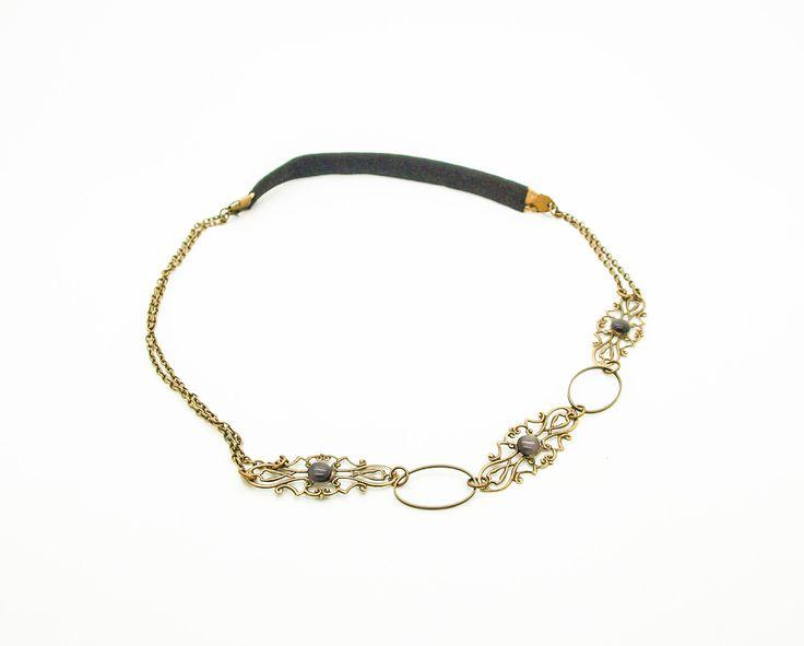 kit headbands /bijoux de tête cabochon noir KHB03 : Kits, tutoriels bijoux par perles-et-matieres