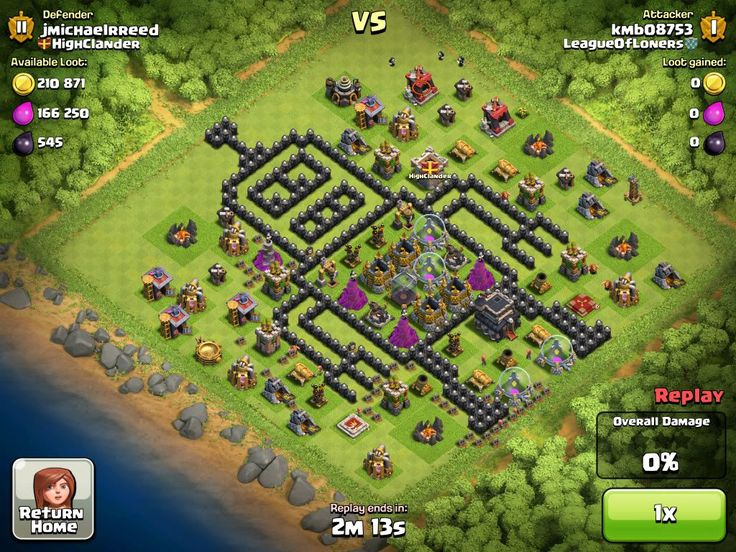 clash of clans base builder lvl 9