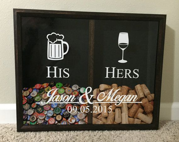 Hey, I found this really awesome Etsy listing at https://www.etsy.com/listing/240254899/his-and-hers-mr-and-mrs-wine-cork-and