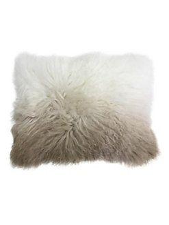 Callisto Home - Two-Tone Mongolian Fur Pillow
