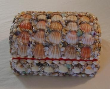 Sea Shell Jewelry Box - Natural Shells Treasure Chest Style