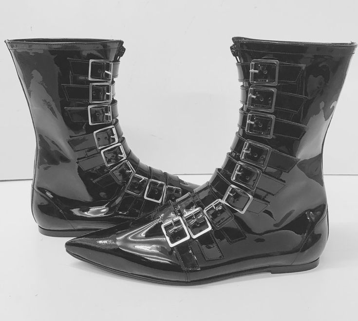Original Pikes -9 Buckle Boots  (No front seam)