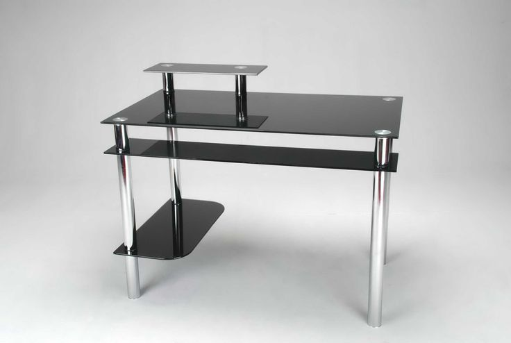 99+ Black and Chrome Computer Desk - Home Office Desk Furniture Check more at http://www.sewcraftyjenn.com/black-and-chrome-computer-desk/