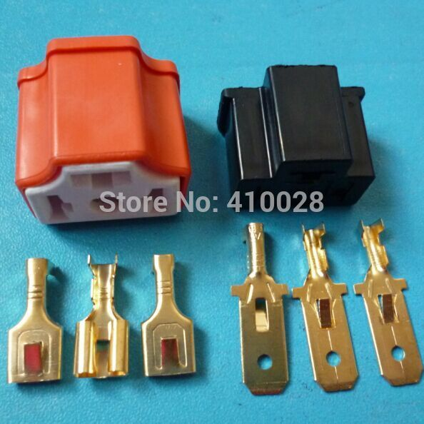 50sets h4 male and female Socket Plug Adapter H4 9003 12V Car Headlight Bulb Holder Extension Cable Auto Connector
