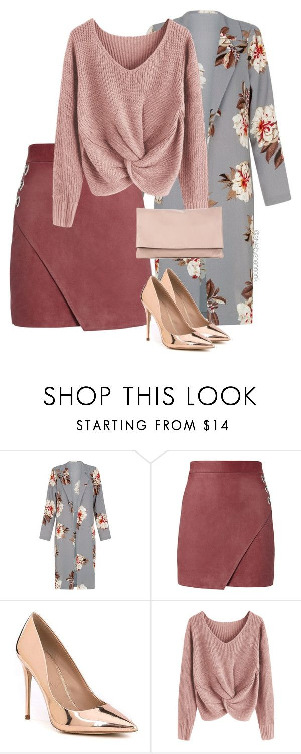 """""""Autumnal Rose"""" by stylebyshannonk ❤ liked on Polyvore featuring Michelle Mason, ALDO and Sole Society"""