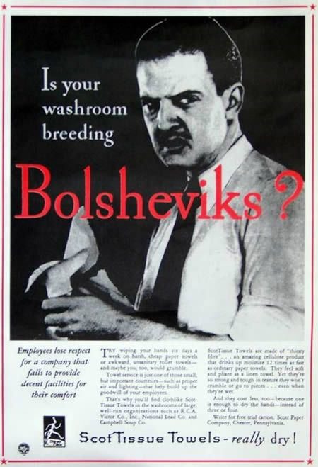 Is your Washroom Breeding Bolsheviks?....... and all this time I was worried about germs.....