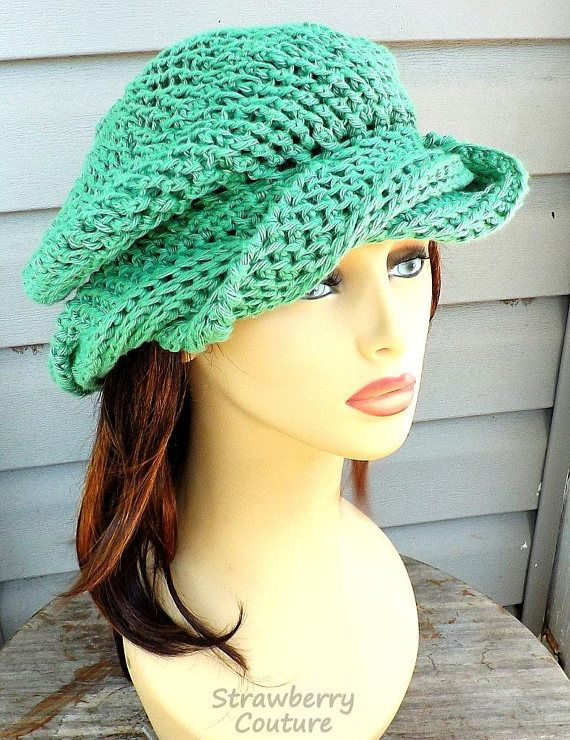 Slouchy Beanie Hat Cotton Hat Summer Hat Crochet Hat Womens Hat Trendy Cotton Beanie Summer Beanie Slouchy Hat Samantha Apple Green Hat by strawberrycouture by #strawberrycouture on #Etsy