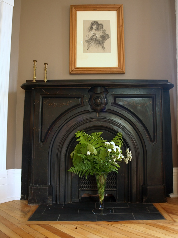 Fireplace in Room 2