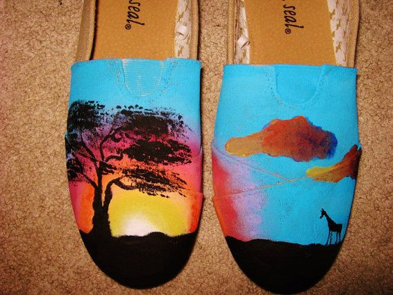 Hand Painted Shoes on Etsy