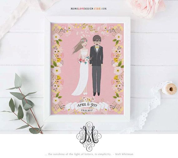 Wedding Portrait Design Save the Date Design Wedding Logo Monogram Design Wedding Invite Design Personal Portrait Wedding Anniversary Gift
