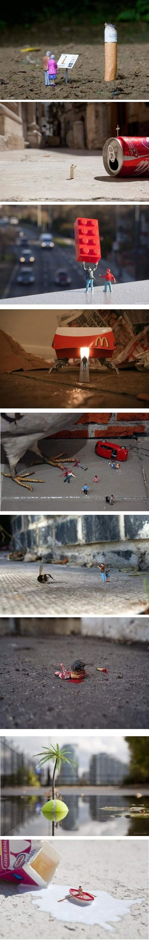 Artist Slinkachu...The miniature world