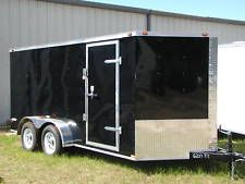 NEW 2017 7x16 7 x 16 VNose Enclosed Cargo Trailer w/Rampheavy equipment trailers apply now www.bncfin.com/apply